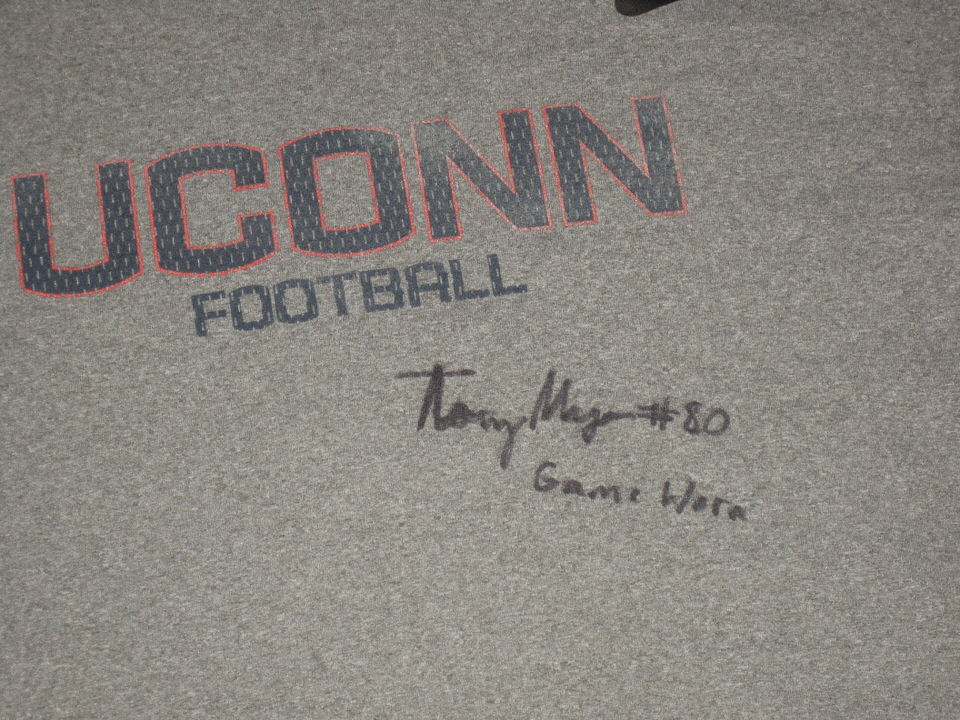66a5e773fa6d ... Tommy Myers Game Worn   Signed Official Connecticut Huskies Football  Nike Dri-Fit XXL Shirt ...