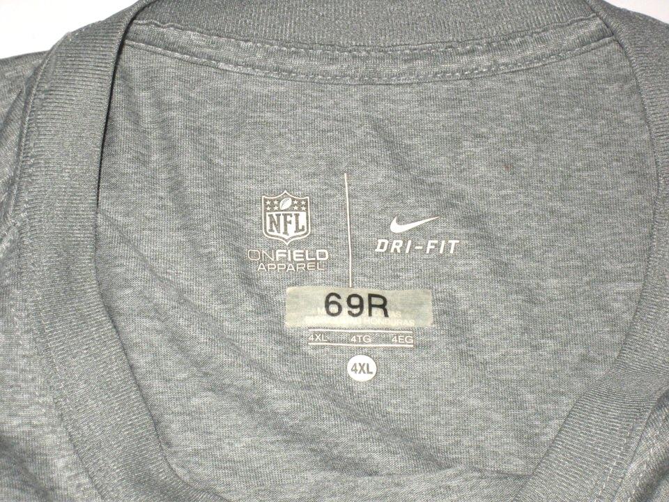 ... AJ Francis Player Issued   Signed Official Washington Redskins  69 Long  Sleeve Nike Drifit 4XL ... 9b08d8ddb