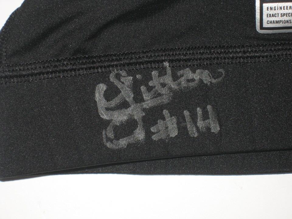 0e16047e66781 Chase Litton Marshall Thundering Herd Game Worn   Signed Black Nike ...
