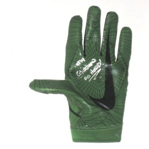 Chase Litton 2017 Marshall Thundering Herd Practice Worn   Autographed  Green   Black Nike Glove 53a2fe669604