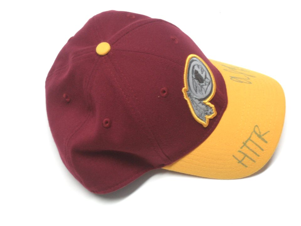 best website a84e6 c1f57 ... coupon code for hat aj francis sideline worn signed official washington  redskins new era 39thirty 5f32a