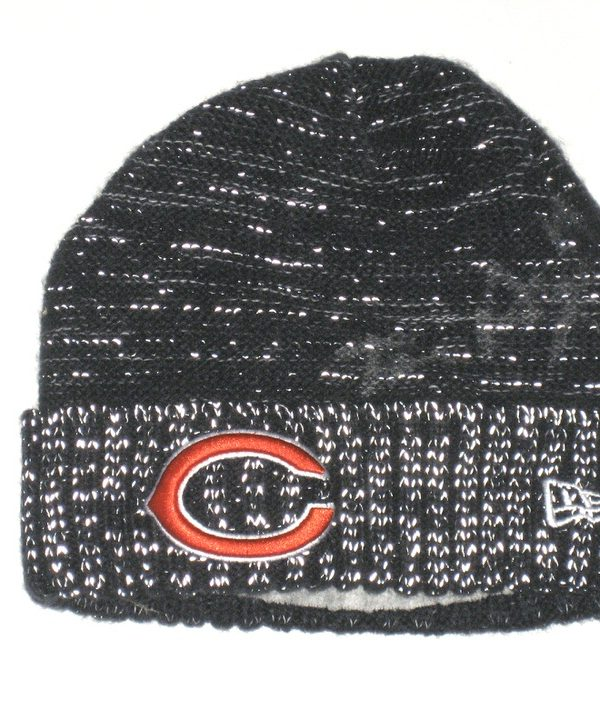 a4824e2d8 Tanner Gentry 2017 Sideline Worn & Signed Official Chicago Bears #19 New  Era Knit Hat