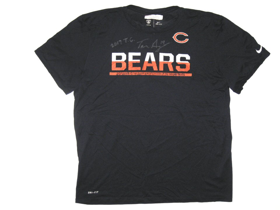 47f3394a Tanner Gentry 2017 Training Camp Worn & Signed Official Chicago Bears #19  Nike Dri-Fit XL Shirt