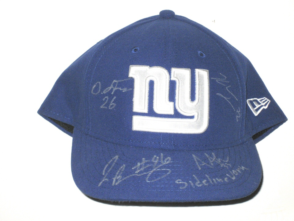 e89fb50bd1f Jay Bromley Sideline Worn   Signed Official New York Giants New Era 59FIFTY  Hat – Also Signed by Andrew Adams