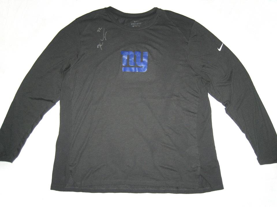 Kerry Wynn 2018 Training Worn   Signed Official New York Giants  72 Long  Sleeve Nike Dri-Fit XXL Shirt - Big Dawg Possessions 35749541b