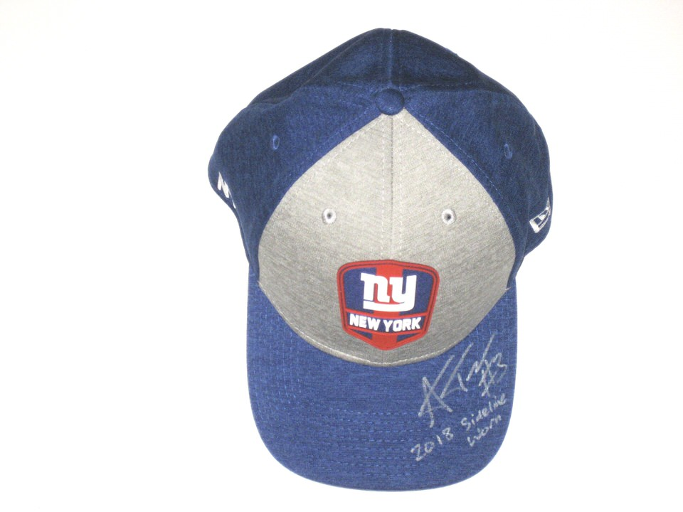 777dfb0f2bf Alex Tanney 2018 Sideline Worn   Signed Official New York Giants New Era  39THIRTY Flex Hat - Big Dawg Possessions