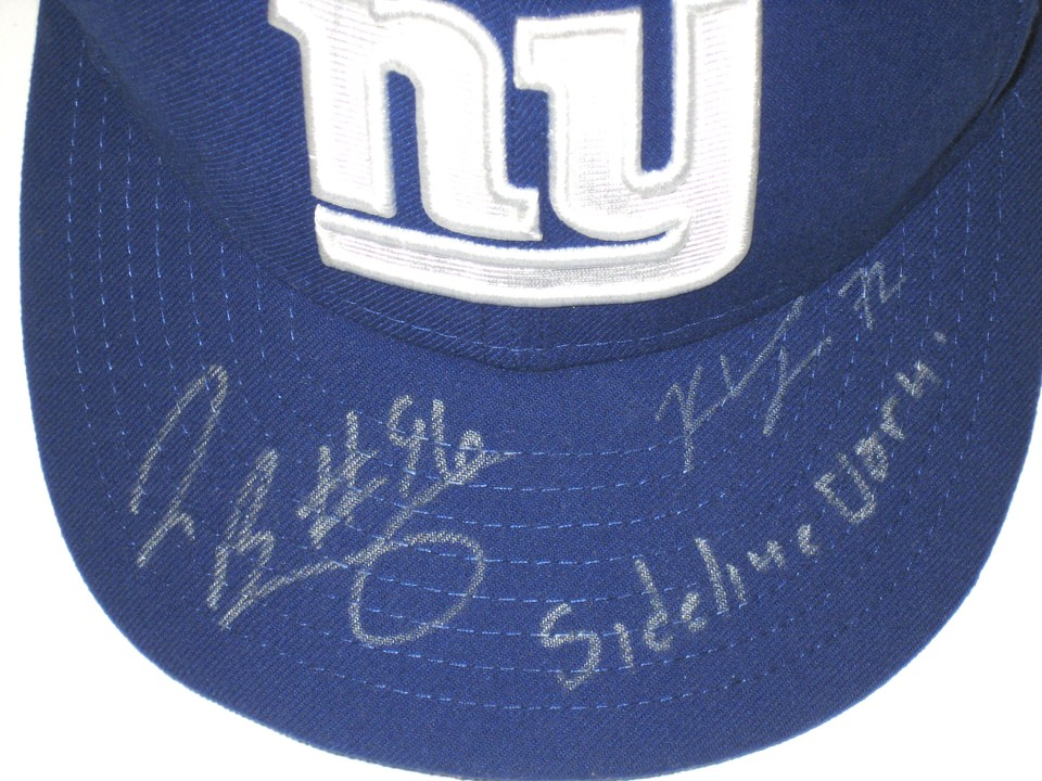competitive price 6cc81 6f834 ... Jay Bromley Sideline Worn   Signed New York Giants New Era 59FIFTY Hat  - Also Signed ...