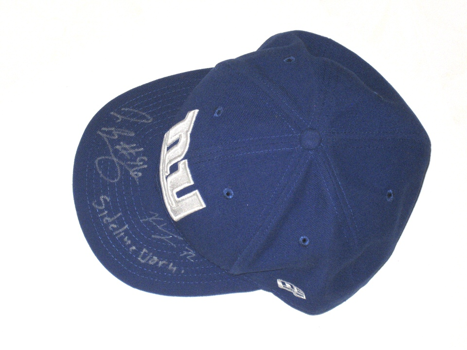 size 40 0bfe9 95b4b ... Bromley Sideline Worn   Signed New York Giants New Era 59FIFTY Hat -  Also Signed Jay ...