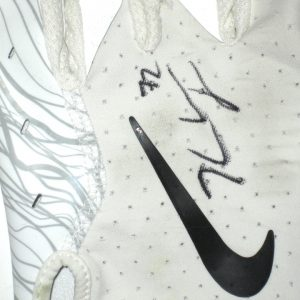 Kerry Wynn 2018 New York Giants Practice Worn & Signed White & Silver Nike 2XL Glove
