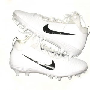 Alex Tanney 2018 New York Giants Game Worn & Signed White & Black Nike Field General Cleats