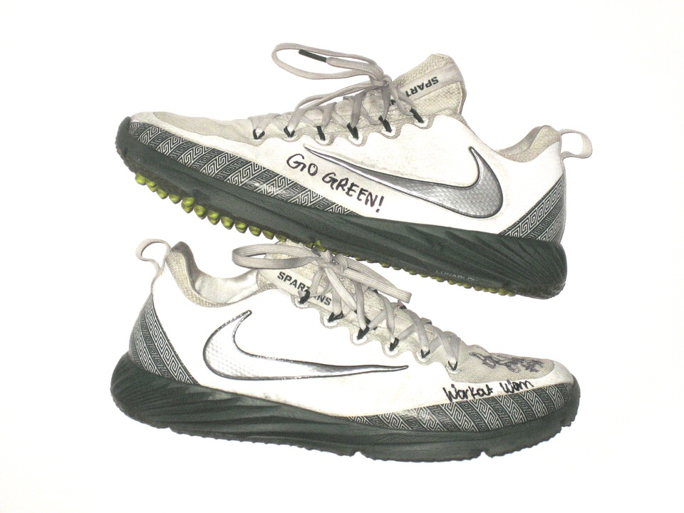 watch cf93a a71bb David Beedle Training Worn & Signed Official Michigan State Spartans Nike  Vapor Speed Turf Shoes - Big Dawg Possessions