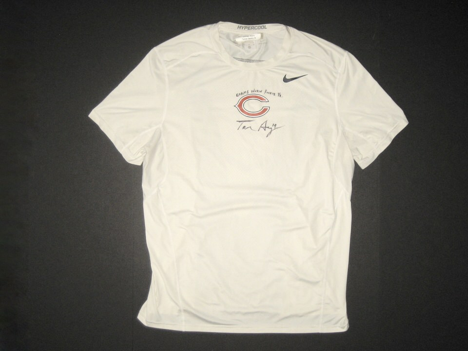 best sneakers 206fb c0ea0 Tanner Gentry 2017 Rookie Year Game Worn & Signed Official Chicago Bears  #19 Nike Hypercool XL Shirt