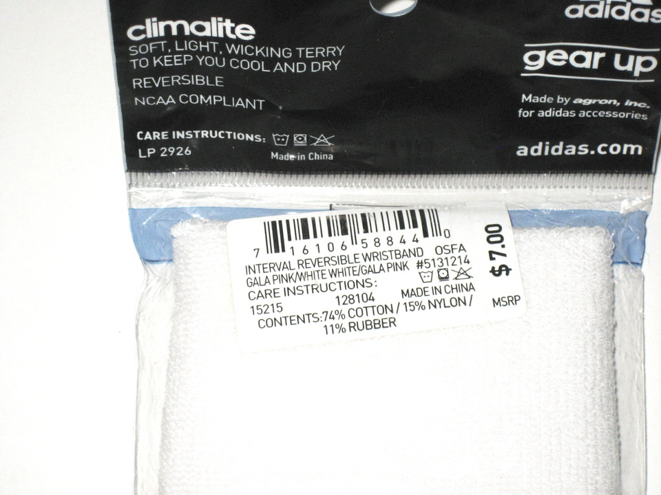 AJ Cole NC State Wolfpack Game Issued & Signed Brand New White & Pink  Adidas Climalite Wristbands