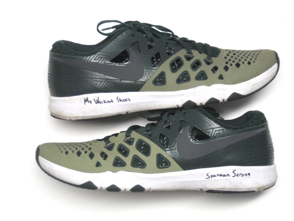 Matt Morrissey Team Issued & Signed Official Michigan State Spartans Nike  Train Speed 4 Week Zero Shoes - Size 11 5