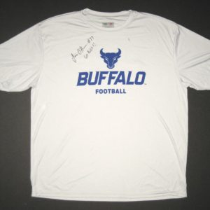 James O'Hagan Practice Worn & Signed Official White & Blue Buffalo Bulls Football 2XL A4 Shirt