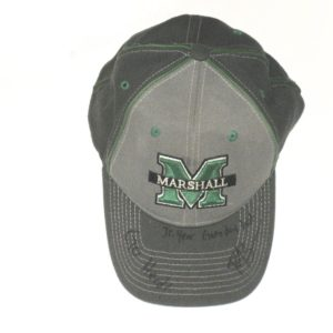 Ryan Bee 2017 Junior Year Signed Official Marshall Thundering Herd Gameday Hat