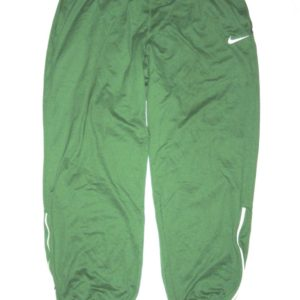 Ryan Bee Marshall Thundering Herd Player Issued Official Green & White Nike Dri-Fit XXL Sweatpants - Worn Around Campus!