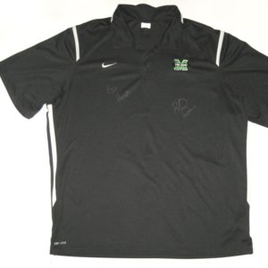 Ryan Bee Player Issued & Signed Official Marshall Thundering Herd Nike Dri-Fit XXL Polo Shirt