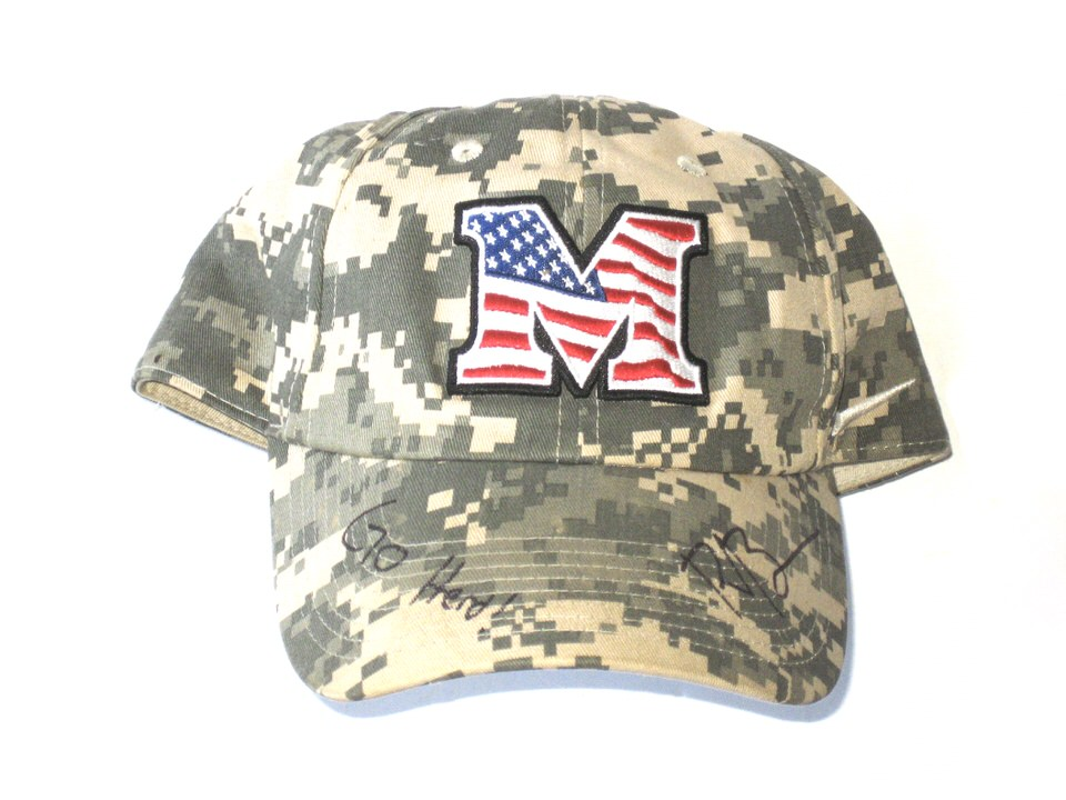 timeless design 429df ac72f Ryan Bee Sideline Worn & Signed Official Camouflage Marshall Thundering  Herd Military Appreciation Day Nike Hat