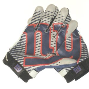 Deontae Skinner Game Worn & Signed Official New York Giants Team Logo Nike Vapor Jet XXL Gloves