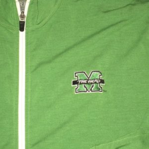 Ryan Bee Player Issued Official Green & White Marshall Thundering Herd #91 Nike Dri-Fit XL Zip Up Sweatshirt