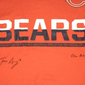 Tanner Gentry Player Issued & Signed Official Chicago Bears #19 Long Sleeve Nike Dri-Fit XL Shirt