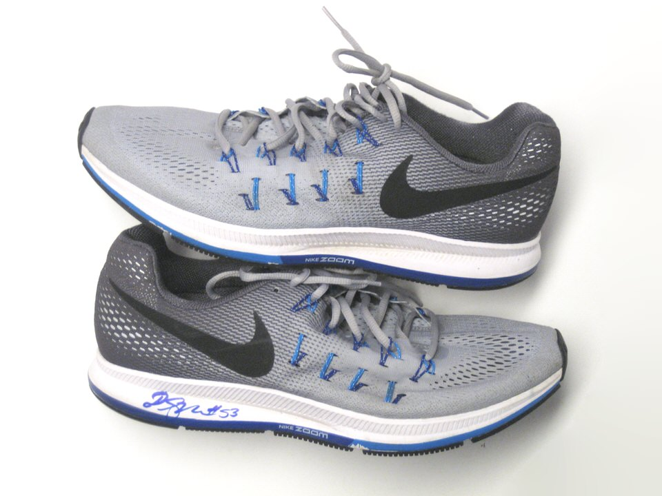 Deontae Skinner New York Giants Training Worn & Signed Nike Air Zoom Pegasus 33 Shoes