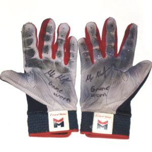 Max Moroff 2019 Cleveland Indians Game Worn & Signed Lizard Skins Batting Gloves