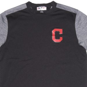 Max Moroff Player Issued Official Navy Cleveland Indians #26 Majestic On-Field Tech Fleece Pullover Sweatshirt